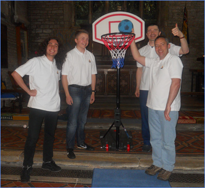 Basket ball equipment for 1st Tuxford Boys Brigade