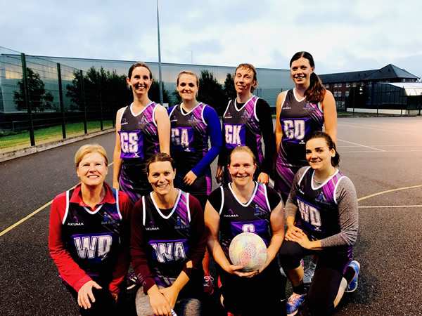 Members of the Fusion netball team