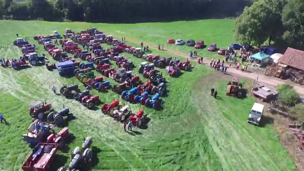 Michael Ducksbury Tractor Run aerial view
