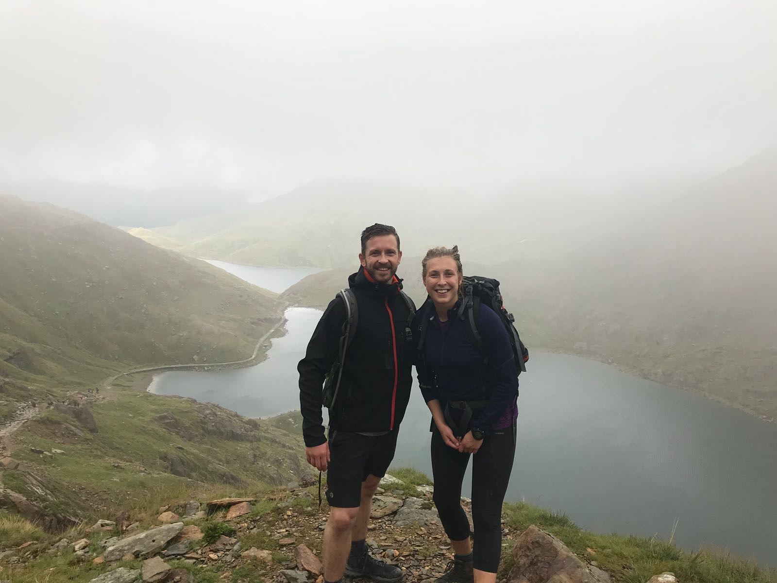 Naomi Macphail and friend on the Three Peaks Challenge