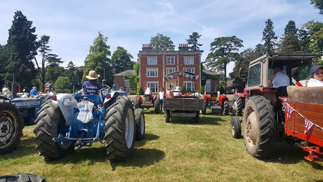 Tractors at the Michael Ducksbury charity road run