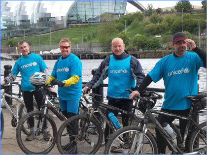 Coast to Coast Bike Rise in Support of UNICEF