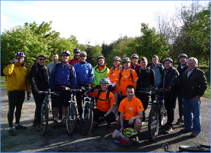 Group photo of Pennine Challenge participants